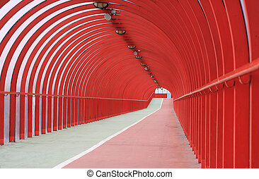 Walkway and cyclepath - A pedestrian walkway and cyclepath...