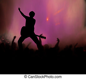 guitarist at rock concert