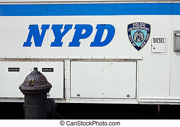 NYPD van - New York Police Department truck - New York City,...