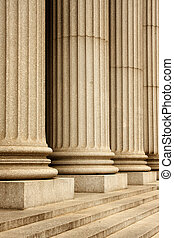 NYC Supreme Court - Columns of the Supreme Court building -...