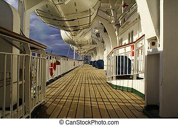 Cruise Ship - Cruise ship deck exterior