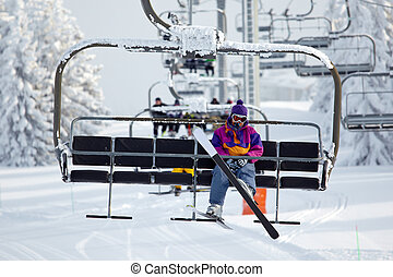 Ski lift - Chairlift on a ski resort