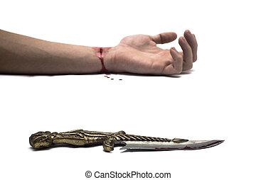 véres, kés
