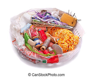 sewing Supplies - sewing supplies on a white background...