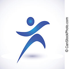 Person in motion logo vector
