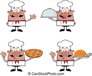 Chef Characters 2 Collection - Chef Cartoon Characters 2...