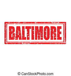 Baltimore-stamp - Grunge rubber stamp with word...