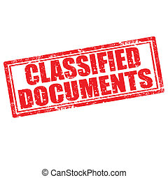 Classified Documents-stamp - Grunge rubber stamp with text...