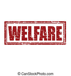 Welfare-stamp - Grunge rubber stamp with word Welfare,vector...