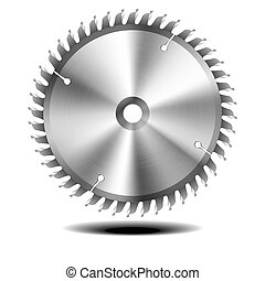 circular saw blade - detailed illustration of circular saw...