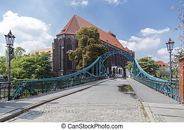 Tumski bridge. Wroclaw. Poland