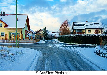 Winter Village - A Bavarian village in the middle of winter.
