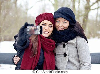 It's Picture Taking Time for These Beautiful Women Outdoors...