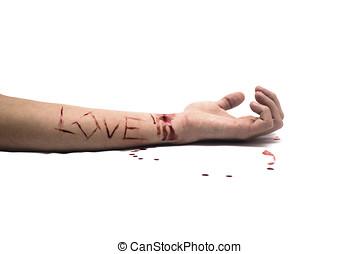 véres, szeret