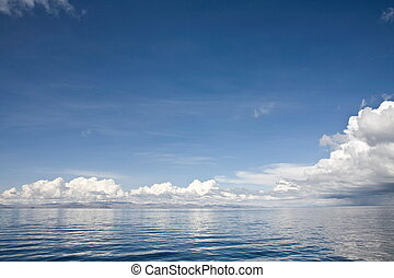 Lake Titicaca Waterscape - A waterscape of Lake Titicaca. It...