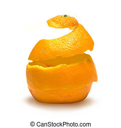 Reconstruction of Life - An orange peel being reconstructed