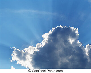 Cloud rays 1 - A cloud with the sun behind it