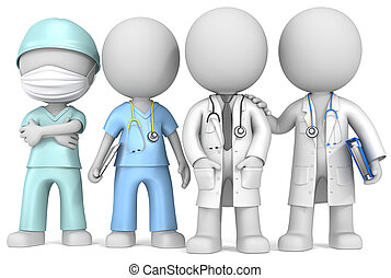 Doctors and Nurse - Dude the Doctors and Nurse x 4 standing...