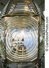 Fresnel Magnifying Lens Close Up Lighthouse Glass Rotating -...