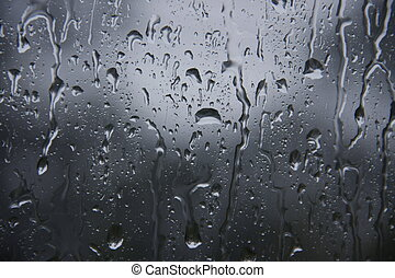 water drop on glass - water drop, rain drop on glass and...