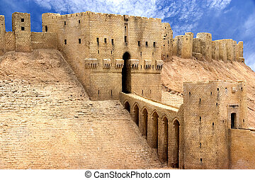 Aleppo Citadel Syria - Image of Aleppo Citadel, Syria.