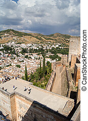 Alhambra - View of the Arab fortress Alhambra, Granada,...
