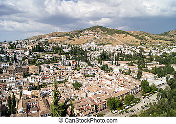View of Granada from the Alhambra - Views of Granada,...