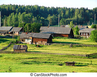Northern village 1 - A view of a typical village in the...