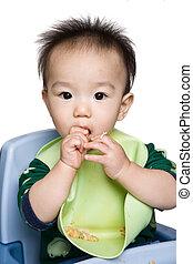 bebê, alimentação, tempo