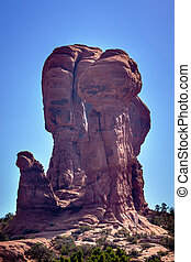 Rock Pillar Sandstone Hoodoo Arches National Park Moab Utah...