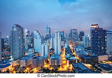 MAKATI,  skyline,  -,  philippines),  (manila