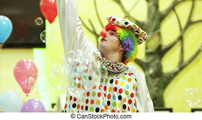 Clown with the bubbles