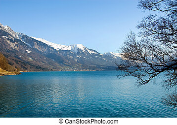 Scenic View - Lac Leman, Switzerland, on a fine winters day...