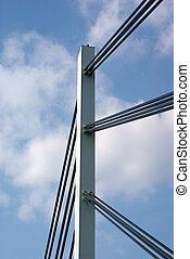 Bridge construction over Danube river in Novi Sad