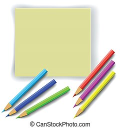 colorful pencils - colorful illustration with colorful...