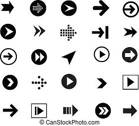 arrow sign icon set, simple shape, internet button and...