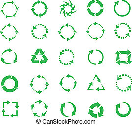 green circle arrows of pictogram refresh reload rotation...