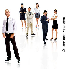 people - workforce - workforce of people on white background