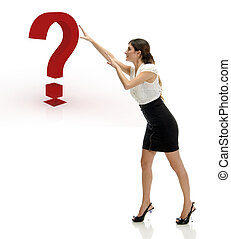 what is this ceo woman - ceo woman moving a question mark to...