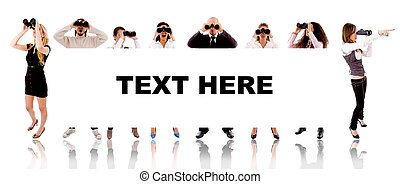 people - text here sign on white background