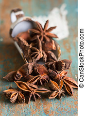 Star anise - Closeup of star anise