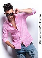 young fashion man