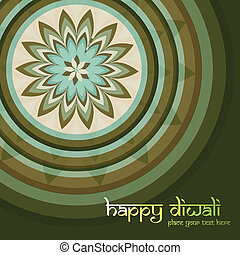 Beautiful Culture Art colorful diwali rangoli ornament Pattern vector