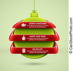 Christmas infographics - Hanging ball, Christmas...