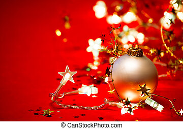 Christmas decoration - Christmas bauble with star-shaped...