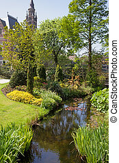 Garden of the Peace Palace in Den Haag The Hague, South...