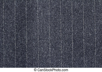 extreme close up of a pin-striped cloth