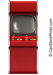 Arcade Game Machine Unbranded - A vintage red unbranded...