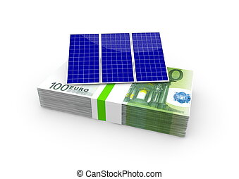a solar panel on euro bundle