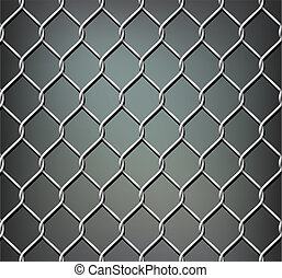 Chrome metal grid